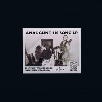 anal cunt song cd